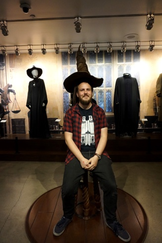 Harry Potter sorting hat, Warner Brothers Studio Tour Hollywood, LA, USA