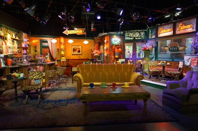 Central Perk cafe, Friends. Warner Brothers Studio Tour Hollywood, LA, USA