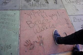 Bruce Willis, Grauman's Chinese Theatre, Hollywood Boulevard, LA, USA