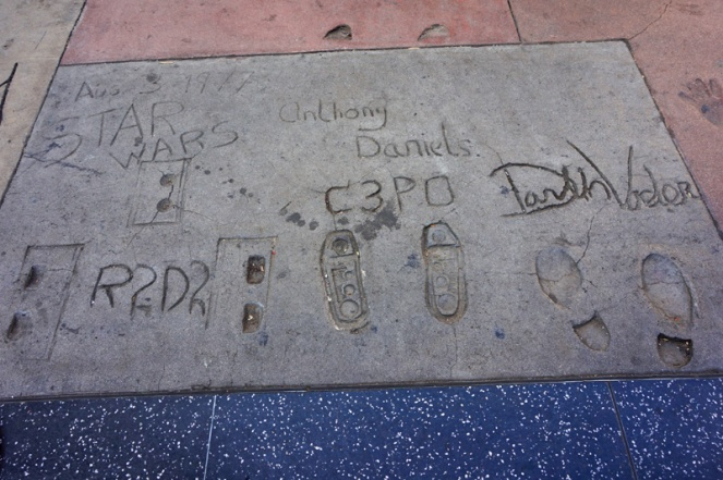 Star Wars, Grauman's Chinese Theatre, Hollywood Boulevard, LA, USA