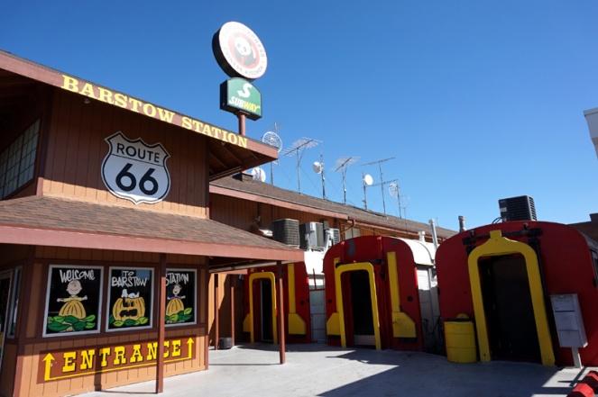 McDonald's train carriage, Barstow, California, USA
