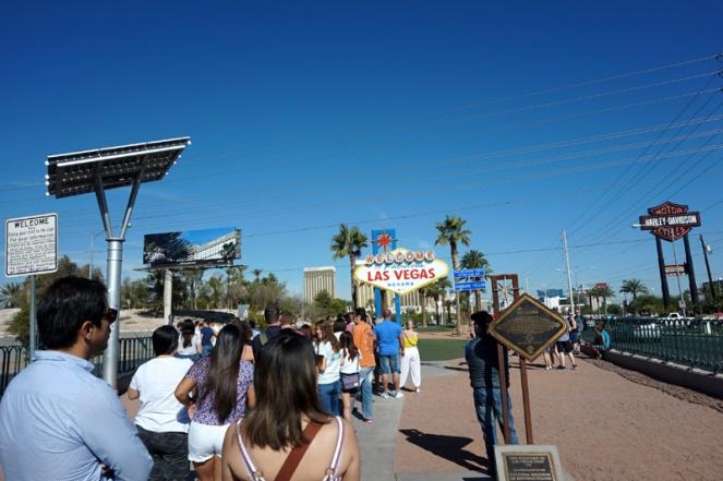 Behind the photo: Las Vegas sign, USA
