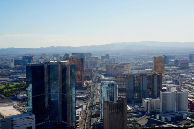 View of the Strip from the Stratosphere, Las Vegas, USA