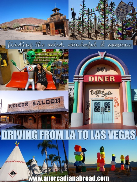 Finding The Weird, Wonderful & Awesome: Driving From LA To Las Vegas. Check out all the highlights of this route, including wig wams, ghost towns, historic saloon bars, diners & the bottle tree ranch! Plus loads more!