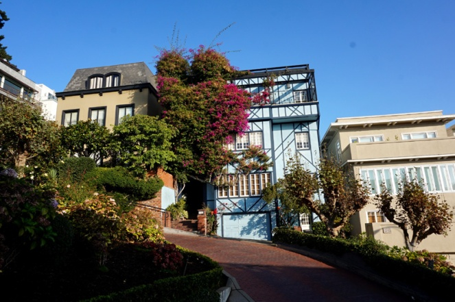 Pretty buildings, houses, Lombard Street, San Francisco