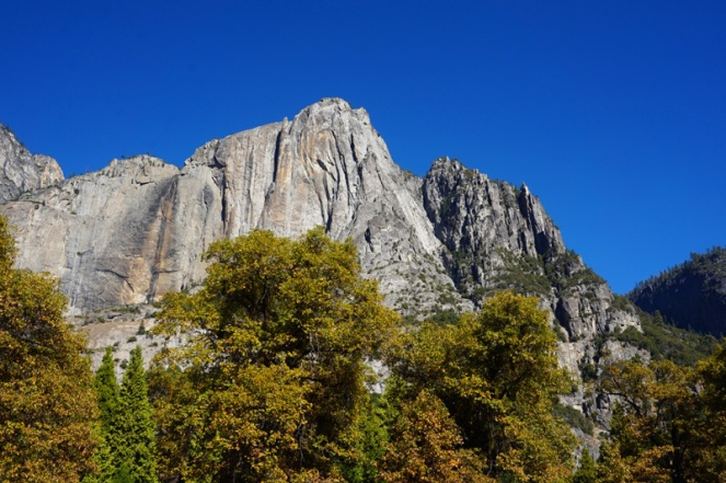 Yosemite Falls all dried up, Yosemite National Park, California, USA