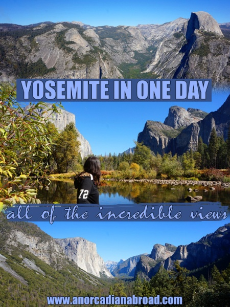 You can visit Yosemite National Park in one day! Find out how you can see all of the incredible views Yosemite has to offer! #yosemite #nationalpark #daytrip