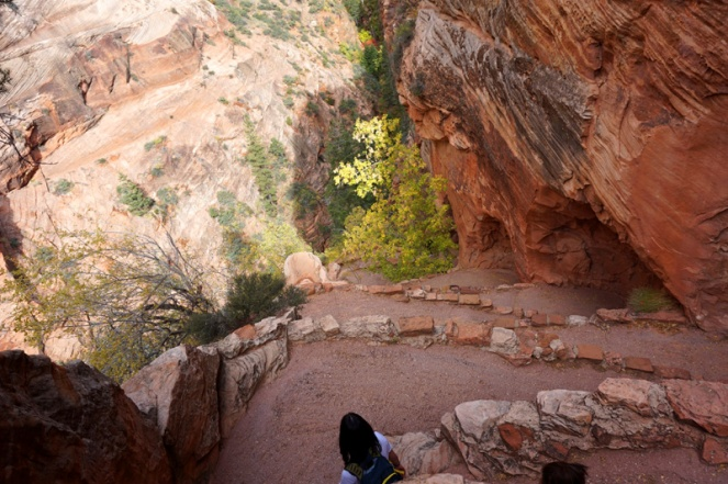 Walter's Wiggles, Angel's Landing hike, Zion National Park, USA