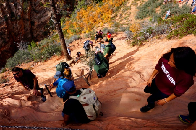 Angel's Landing hike, Zion National Park campsite, USA