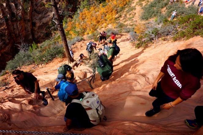 Angel's Landing hike, Zion National Park campsite, USA