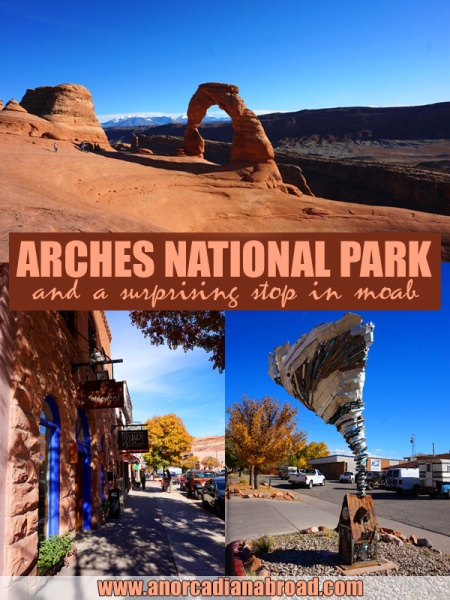 Arches National Park & A Surprising Stop In Moab - read about why I loved this area of Utah on our American road trip!