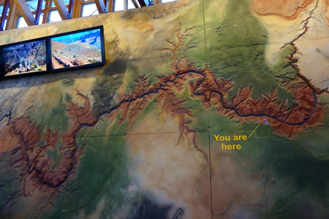 Grand Canyon map, Grand Canyon, Arizona, USA