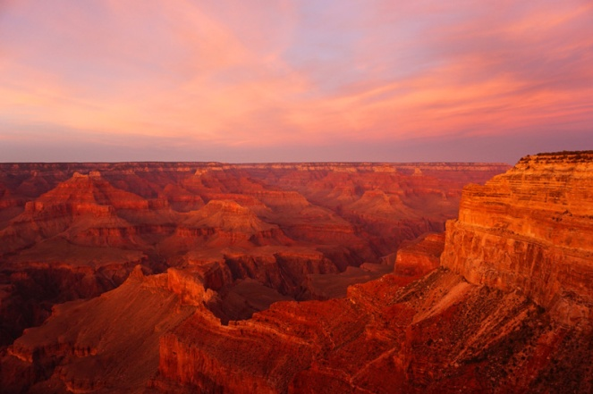Sunset at the Grand Canyon, Arizona, USA