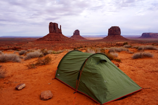 Camping at Monument Valley, Utah, USA