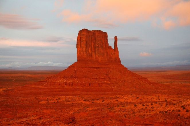 Sunset on the mittens, Monument Valley, Utah, USA
