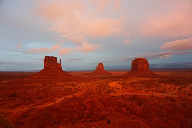 Sunset in Monument Valley, Utah, USA