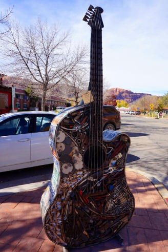 Upcycled guitar, Moab, Utah, USA