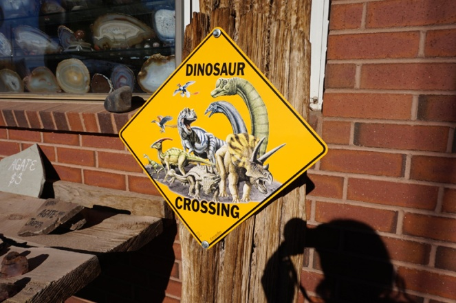 Dinosaur crossing, Moab, Utah, USA
