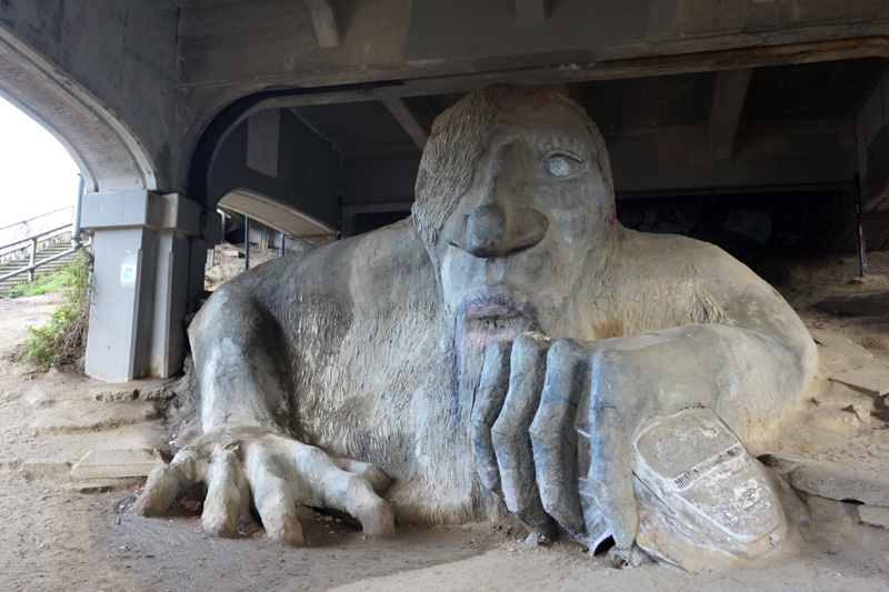 Fremont troll, Seattle, USA