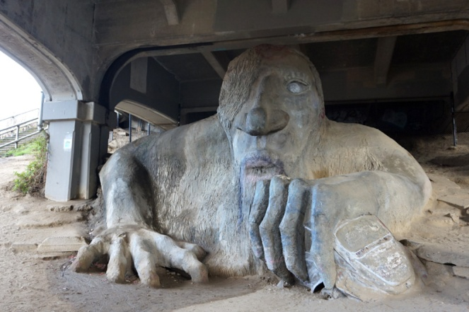 Fremont troll, Seattle, USA