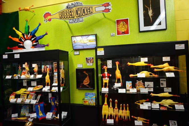 Rubber chicken museum, Seattle, USA