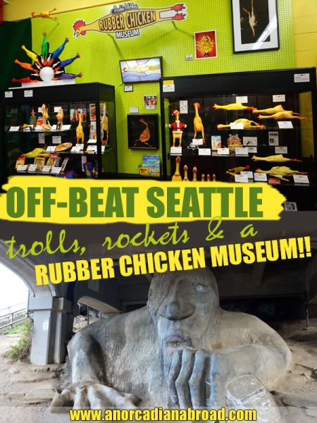 Off-Beat Seattle: Trolls, Rockets & A Rubber Chicken Museum. Find a whole bunch of crazy, quirky things in Seattle, USA!