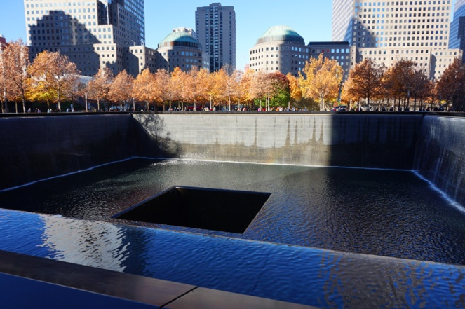 Ground Zero 9/11 memorial, New York City, USA