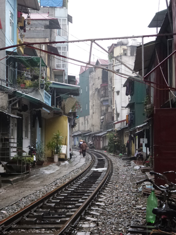 Train track street, Hanoi, Vietnam
