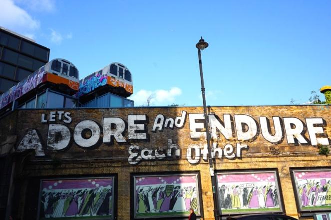 Village Underground street art, Shoreditch, London