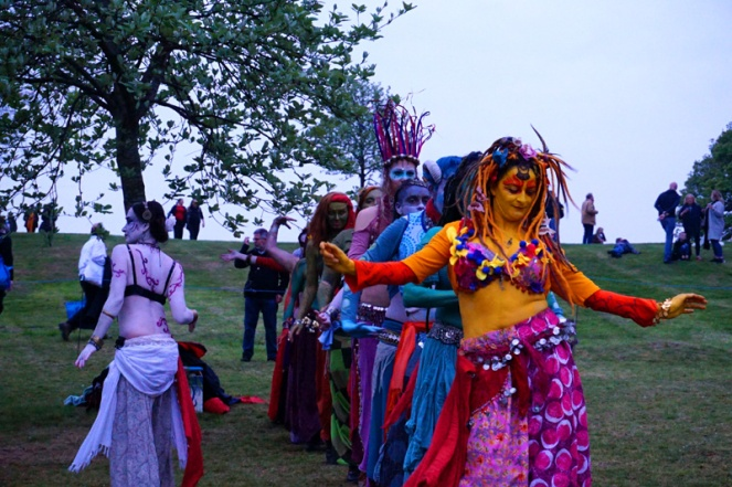 Belly dancers, Beltane Fire Festival, Edinburgh