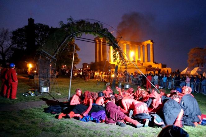 Fire Arch & acropolis, Beltane Fire Festival, Edinburgh