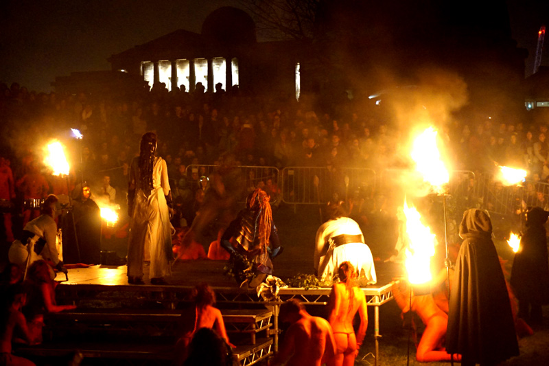 Awakening with May Queen & Green Man, Beltane Fire Festival, Edinburgh