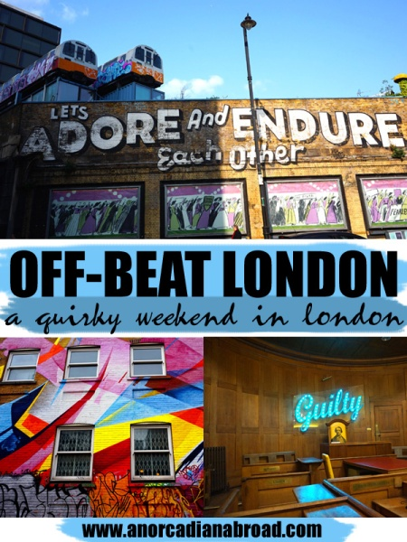 Off-Beat London: A Quirky Weekend In London! From weird street art to crazy bars, I've got you covered for everything including cereal cafes, ball pit bars, markets, canal walks & a hostel in a jail!