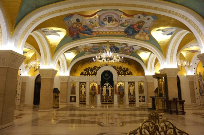 Saint Sava church crypt, Belgrade, Serbia