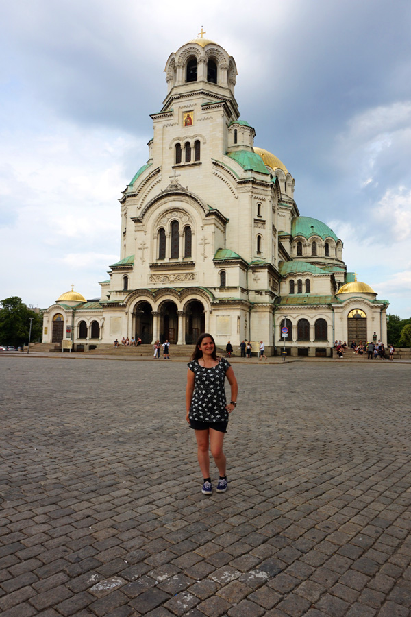 Me at Saint Alexander Nevsky cathedral, Sofia, Bulgaria