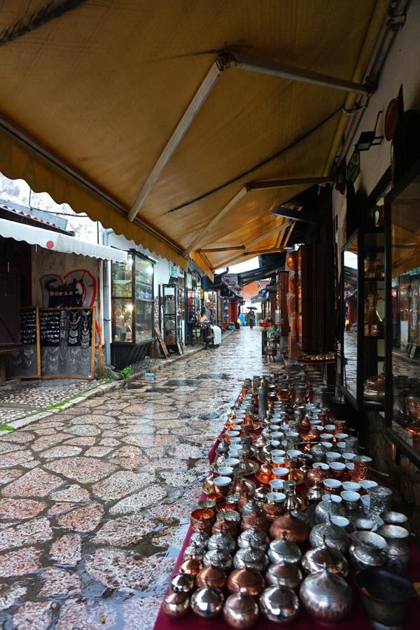 Market stalls, Sarajevo, Bosnia & Herzegovina