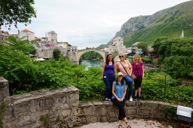 Girls at Stari Most, Mostar, Bosnia & Herzegovina
