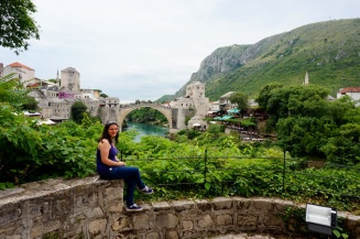 Me at Stari Most bridge, Mostar, Bosnia & Herzegovina