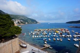 Port from the city walls, Dubrovnik, Croatia