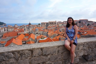 Me with the view from the city walls, Dubrovnik, Croatia