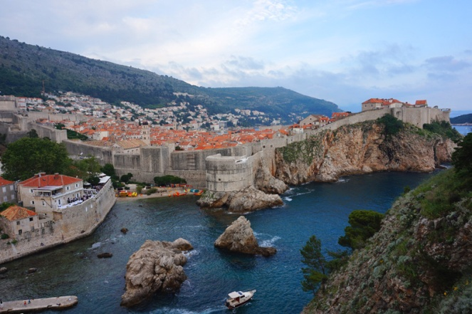 Dubrovnik from the fortress, Croatia