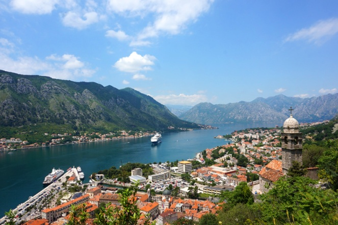 View over Kotor Bay, Montenegro