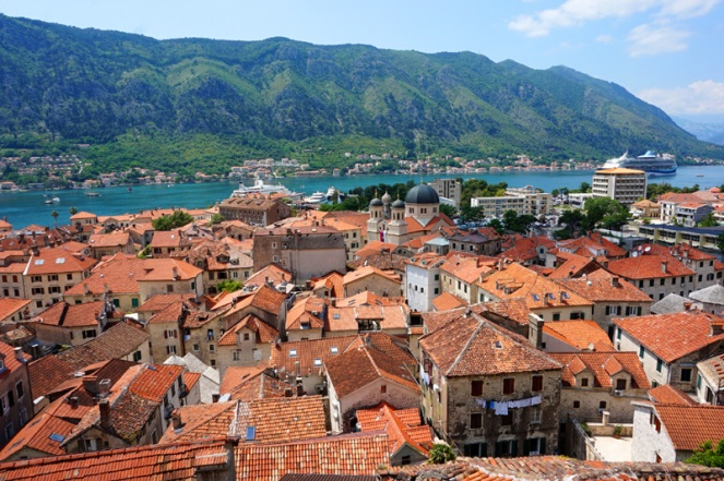 Old Town from above, Kotor, Montenegro