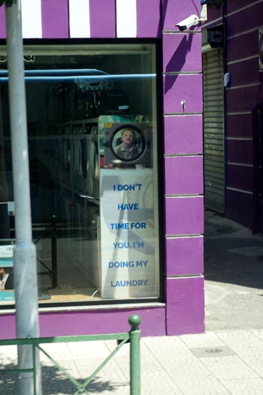 Laundry sign, Tirana, Albania