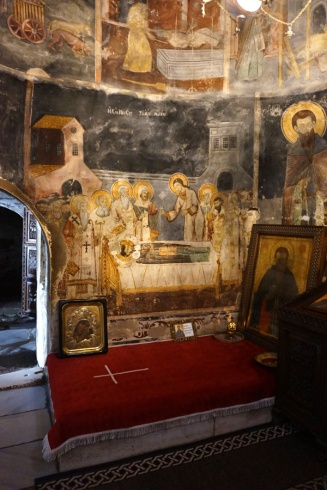 Inside St Naum Monastery, Lake Ohrid, North Macedonia