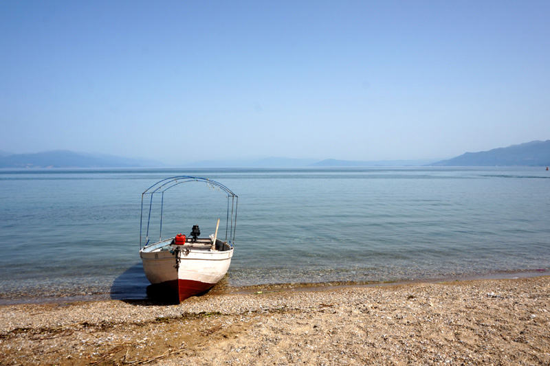 Boat on the shore, Lake Ohrid, North Macedonia
