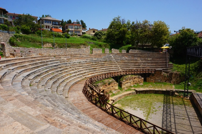 Greek amphitheatre, Ohrid, North Macedonia
