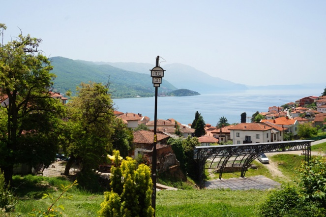 St John church overlooking Lake Ohrid, North Macedonia