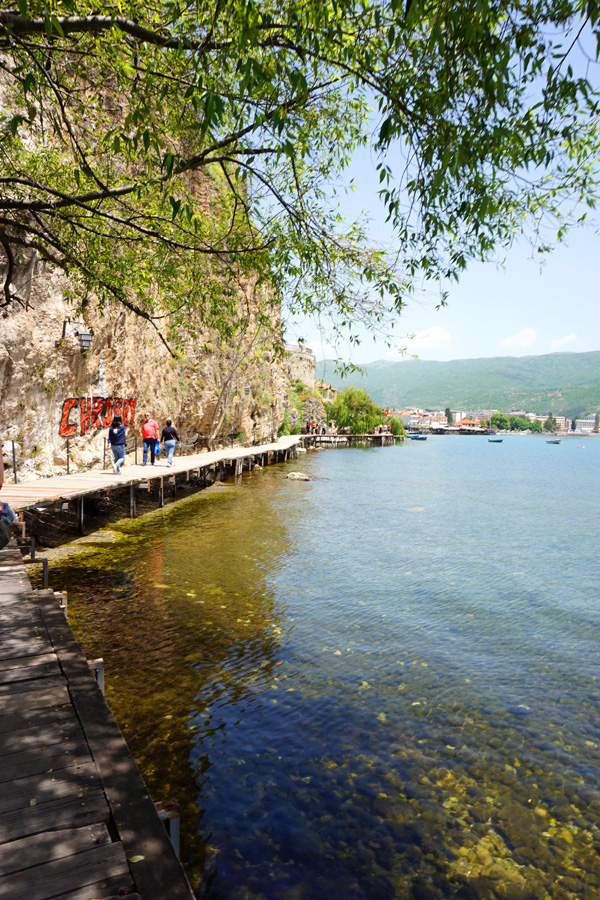 Lake Ohrid boardwalk, North Macedonia