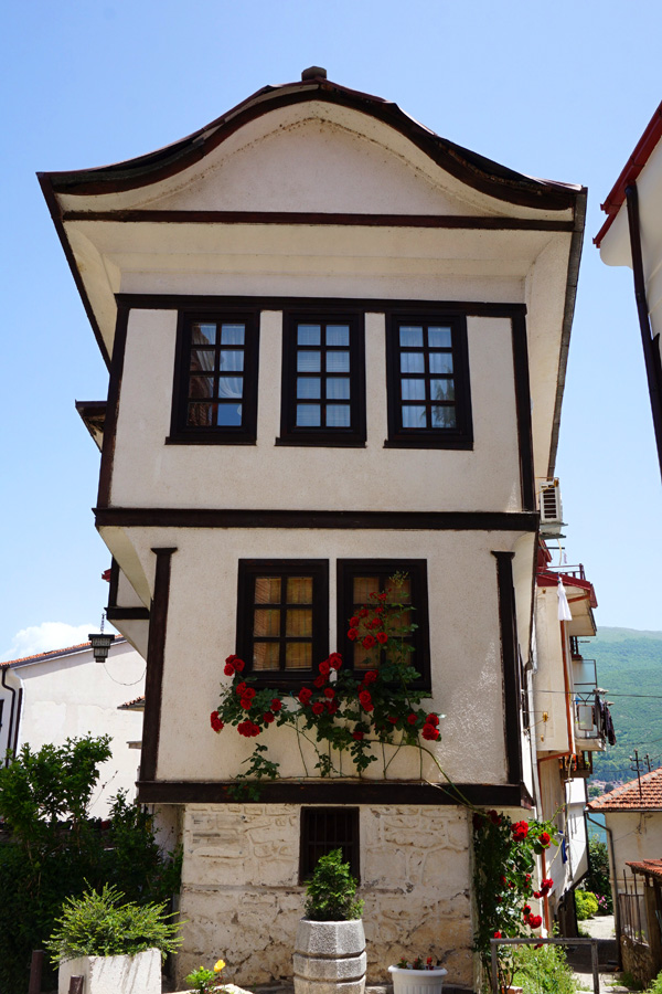 Robevi family house with roses, Ohrid, North Macedonia
